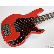 G&L USA Kiloton Fulelrton Red Gloss w/ Block Inlays 5-String Electric Bass Guitar CLF1712077 NOS