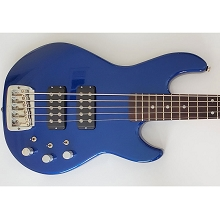 G&L USA L-2500 Midnight Blue Metallic 5-String Electric Bass Guitar SN5341