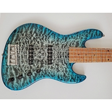 Sadowsky Masterbuilt CS Standard J T-Whale Blue Transparent Burst 5-String Electric Bass NAMM 2020