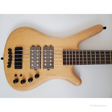 Warwick Masterbuilt CS Corvette $$ 5-String Bass Yellow Heart Top NAMM 2020