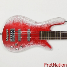 Warwick Masterbuilt Streamer LX 5-String Colorstorm White Candy Apple Red 18-3898