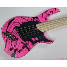 Dingwall NG3 5-String Pink Swirl Limited Edition Electric Bass w/ Gig Bag