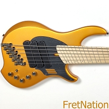 Dingwall NG3 6-String Matte Gold Metallic Electric Bass w/ Gig Bag 9.38 Pounds SN-08486