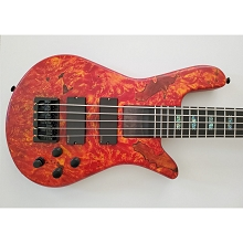 Spector USA Series NS Bolt-On 5-String Electric Bass Inferno Red Matte NS-5H2