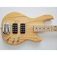G&L L-2000 Tribute Series Natural Gloss 4-String Electric Bass Finish Blemish SN-5892