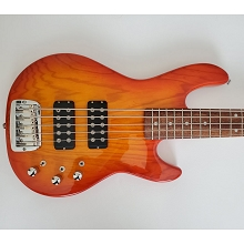 G&L L-2500 Tribute Series Honeyburst 5-String Electric Bass SN-8010