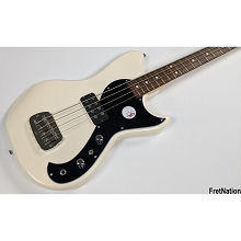 G&L Tribute Fallout Short Scale 4-String Electric Bass Guitar - Olympic White w/ Gig-Bag