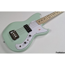 G&L Tribute Fallout Short Scale 4-String Electric Bass Guitar - Surf Green w/ Gig-Bag