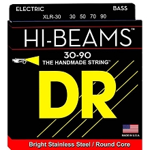 DR Hi-Beam Stainless Steel Electric Bass Strings Long Scale Set - 4-String 30-090 Extra-Light XLR-30