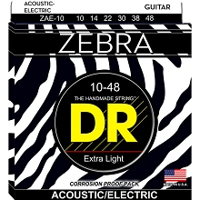 DR ZEBRA Acoustic / Electric Guitar String Set - 10-48 Extra Light ZAE-10