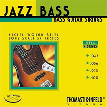 Thomastik-Infeld Jazz Flats Flatwound Bass String Set Long Scale - 4-String 43-100 JF344