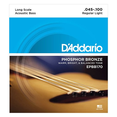 D'Addario Phosphor Bronze Acoustic Bass String Set Long Scale - 4-String 45-100 EPBB170