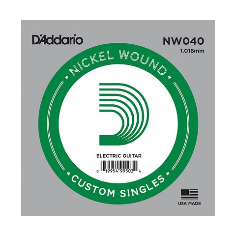 D'Addario XL Nickel Wound Single Electric Guitar String .040w