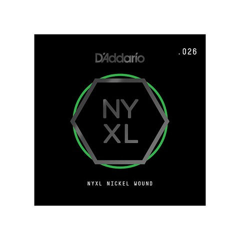 D'Addario NYXL Nickel Wound Single Electric Guitar String .026w