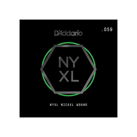D'Addario NYXL Nickel Wound Single Electric Guitar String .059w