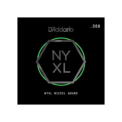 D'Addario NYXL Nickel Wound Single Electric Guitar String .068w