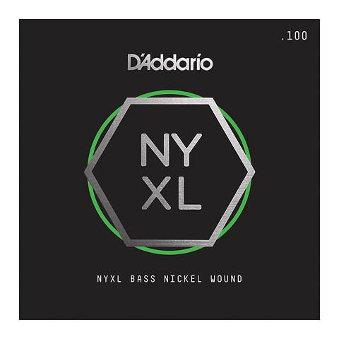 D'Addario NYXL Nickel Wound Single String Super Long Scale - .100T Tapered