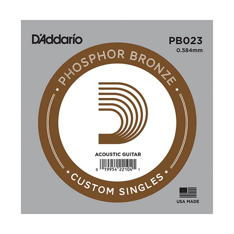 D'Addario Phosphor Bronze Single Acoustic Guitar String .023w