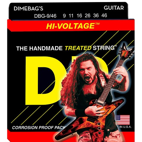DR Dimebag Darrell StringLife Treated Electric Guitar String Set - 09-46 Light-Heavy DBG-9/46