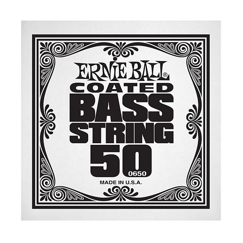 Ernie Ball Coated Nickel Wound Electric Bass Single String - Long Scale .050