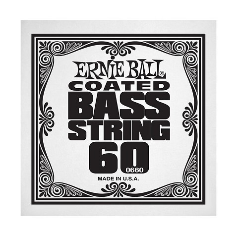 Ernie Ball Coated Nickel Wound Electric Bass Single String - Long Scale .060