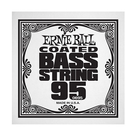 Ernie Ball Coated Nickel Wound Electric Bass Single String - Long Scale .095