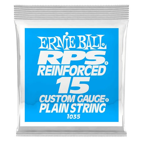 Ernie Ball RPS Reinforced Plain Steel Single Guitar String .015p