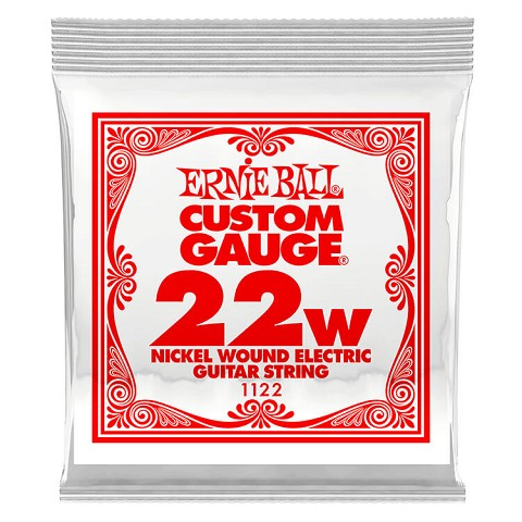 Ernie Ball Nickel Wound Single Electric Guitar String .022w