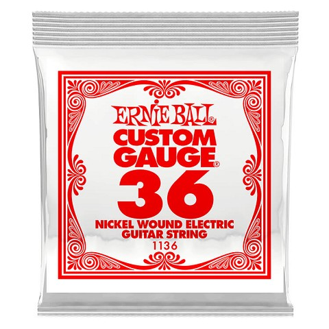 Ernie Ball Nickel Wound Single Electric Guitar String .036w