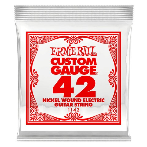 Ernie Ball Nickel Wound Single Electric Guitar String .042w