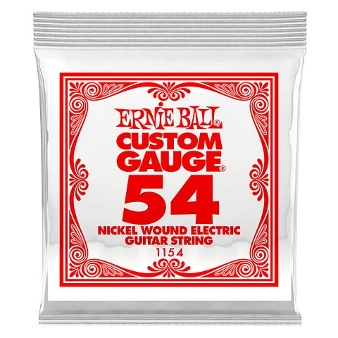 Ernie Ball Nickel Wound Single Electric Guitar String .054w