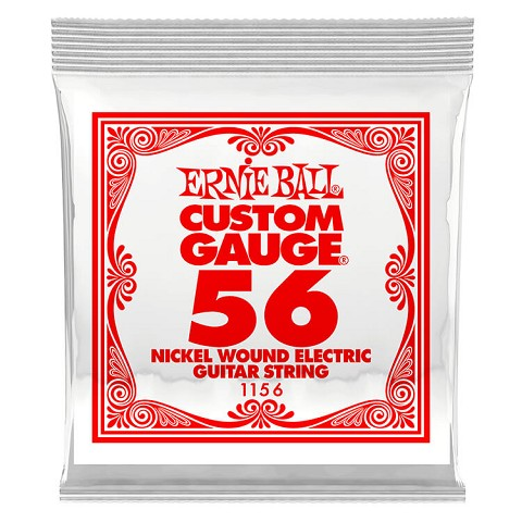 Ernie Ball Nickel Wound Single Electric Guitar String .056w