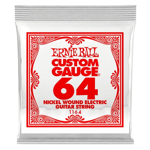 Ernie Ball Nickel Wound Single Electric Guitar String .064w
