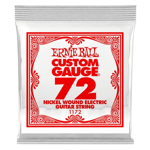 Ernie Ball Nickel Wound Single Electric Guitar String .072w
