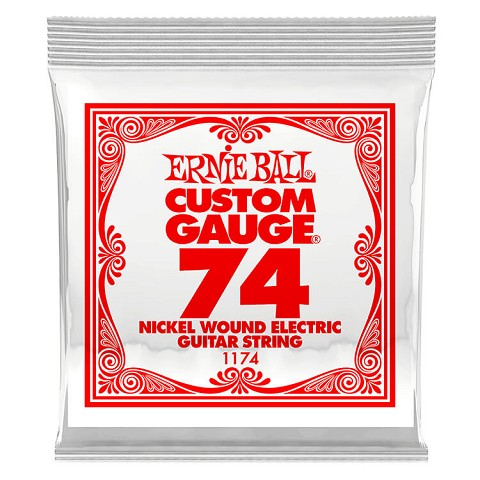 Ernie Ball Nickel Wound Single Electric Guitar String .074w