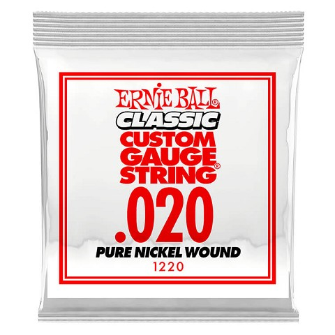 Ernie Ball Pure Nickel Wound Single Electric Guitar String .020w