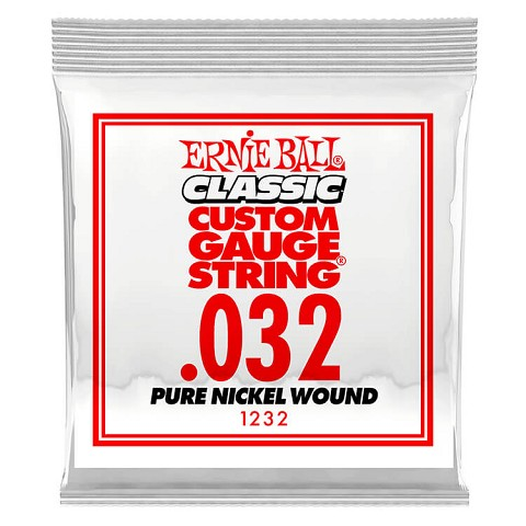 Ernie Ball Pure Nickel Wound Single Electric Guitar String .032w