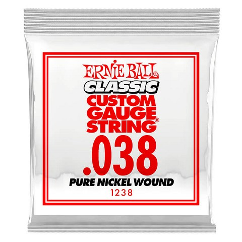 Ernie Ball Pure Nickel Wound Single Electric Guitar String .038w