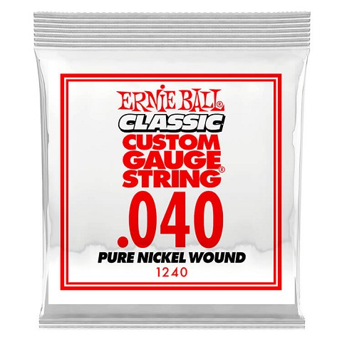 Ernie Ball Pure Nickel Wound Single Electric Guitar String .040w