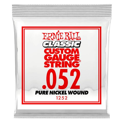 Ernie Ball Pure Nickel Wound Single Electric Guitar String .052w