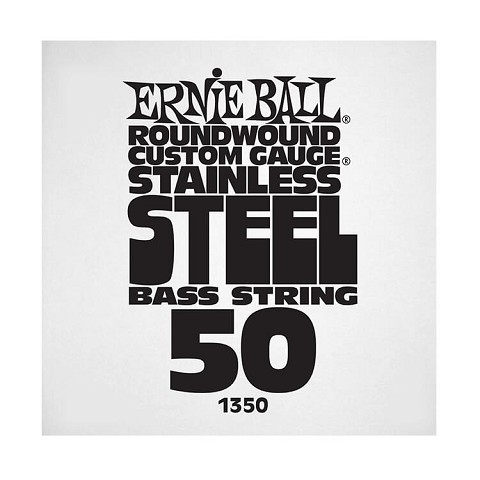 Ernie Ball Stainless Steel Round Wound Electric Bass Single String - Long Scale .050