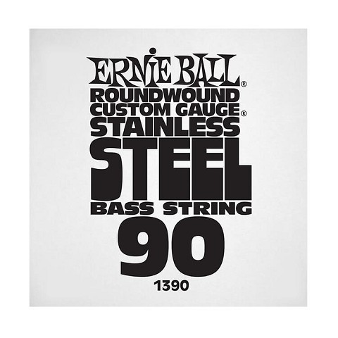Ernie Ball Stainless Steel Round Wound Electric Bass Single String - Long Scale .090