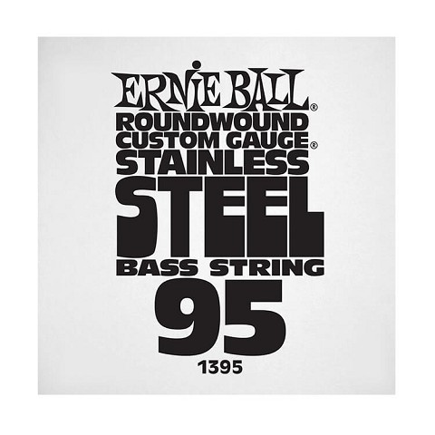 Ernie Ball Stainless Steel Round Wound Electric Bass Single String - Long Scale .095
