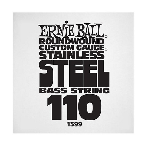 Ernie Ball Stainless Steel Round Wound Electric Bass Single String - Long Scale .110