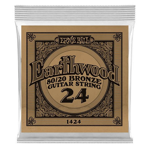 Ernie Ball Earthwood 80/20 Bronze Acoustic Guitar Single String .024w