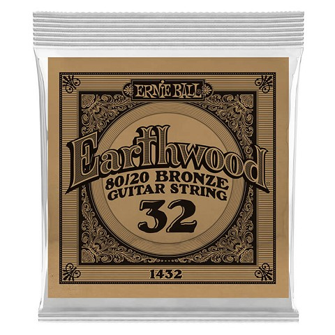 Ernie Ball Earthwood 80/20 Bronze Acoustic Guitar Single String .032