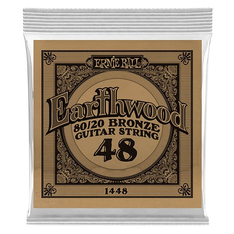 Ernie Ball Earthwood 80/20 Bronze Acoustic Guitar Single String .048