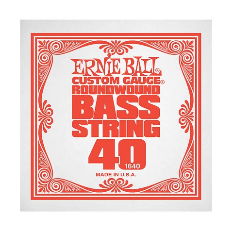 Ernie Ball Nickel Wound Slinky Electric Bass Single String - Long Scale .040