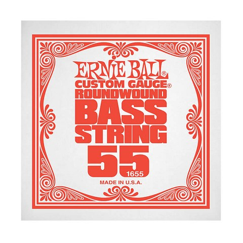 Ernie Ball Nickel Wound Slinky Electric Bass Single String - Long Scale .055