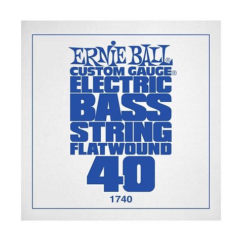 Ernie Ball Flatwound Electric Bass Single String - Long Scale .040